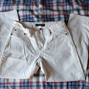 MAX JEANS WHITE CROP JEANS
